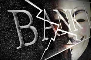 برق چشمان هکرهای نقابدار خبر از عملیاتی دیگر میدهد ! اینبار بانکها مورد هدف هستند