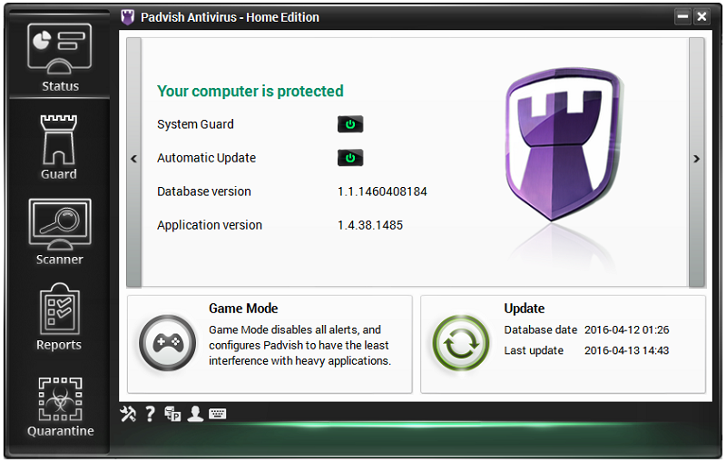 Padvish Antivirus Free Screen shot